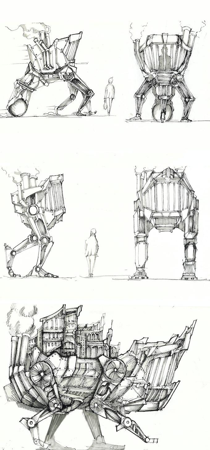 Steampunk Mech Sketches
