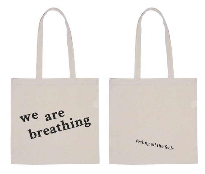 We Are Breathing Tote mock-up