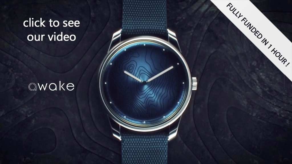 AWAKE - FRENCH DESIGNER WATCH TO END OCEAN PLASTIC POLLUTION project video thumbnail