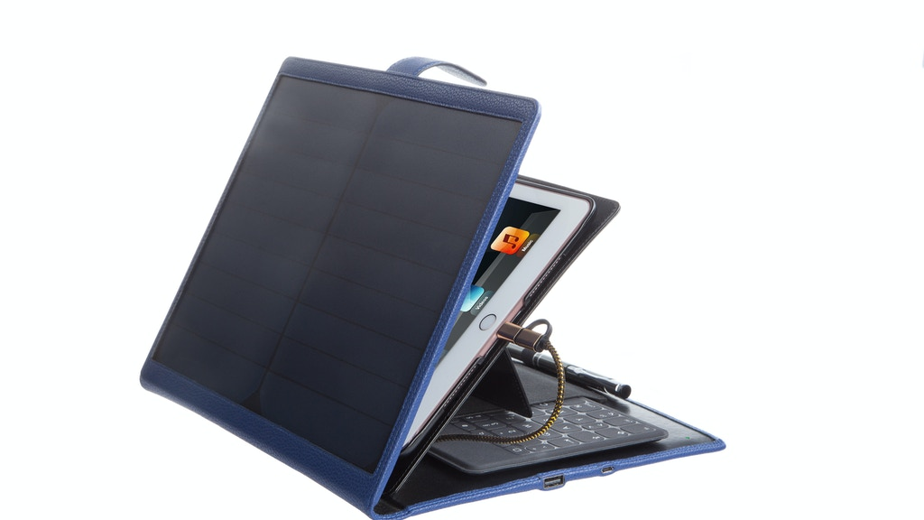 Goldfink Solar Planner: Eco-friendly tablet case and charger project video thumbnail