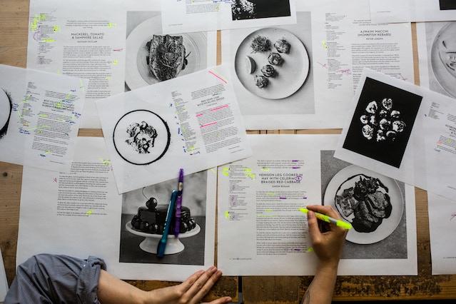 final recipe edits before sending the cookbook to the printer
