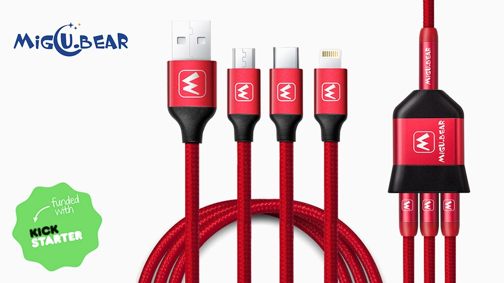 MiGU BEAR 3: World's First Extensible Charging Cable Kit