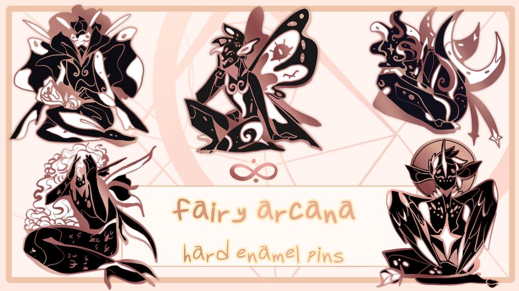 Fairy Arcana Enamel Pins