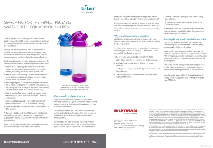 Eastman: Searching for the perfect reusable water bottle for schoolchildren