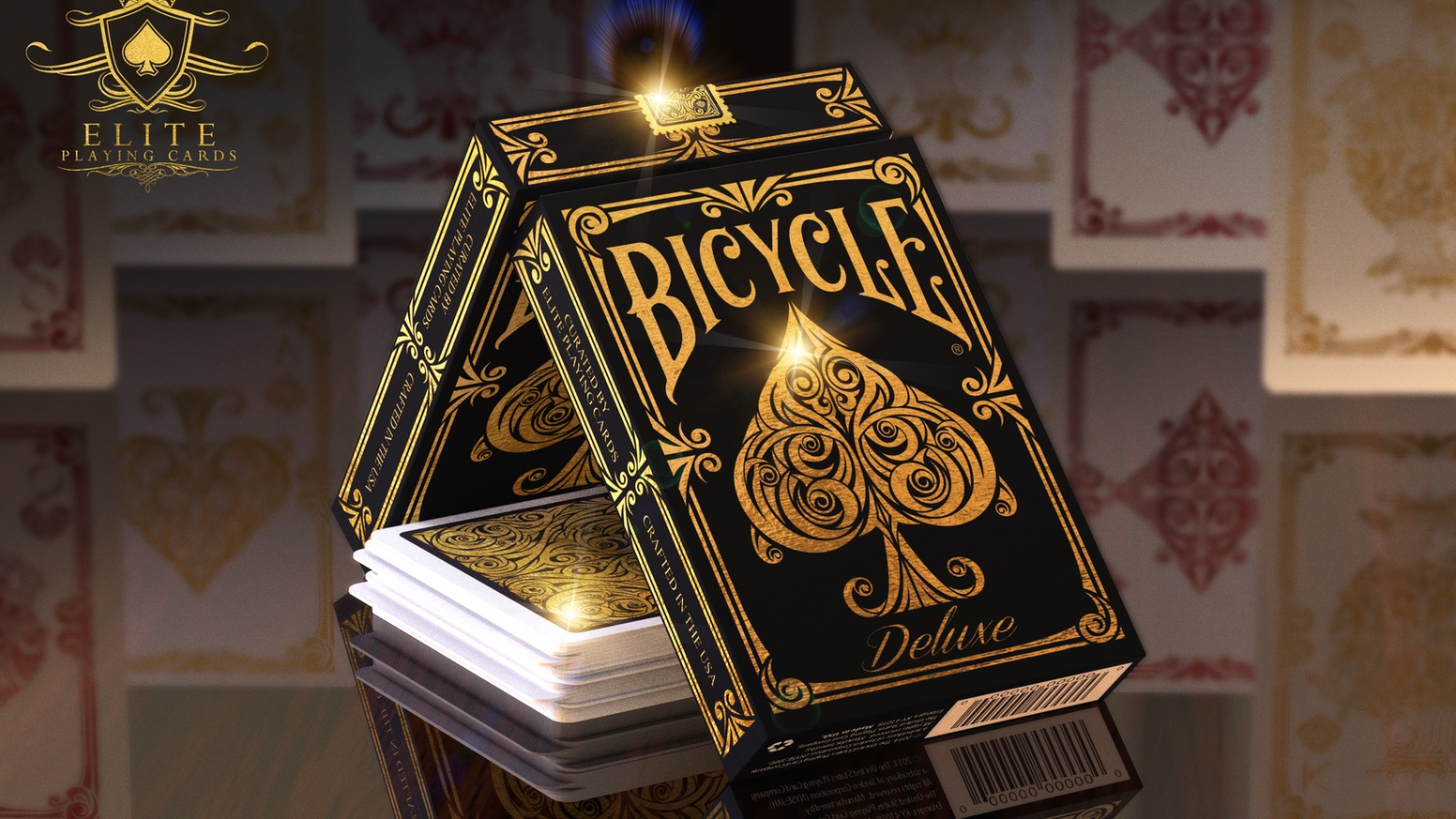 Bicycle® Deluxe. 56 Luxury Hand-Illustrated Playing Cards. Elite's Signature Collection. Limited Edition.