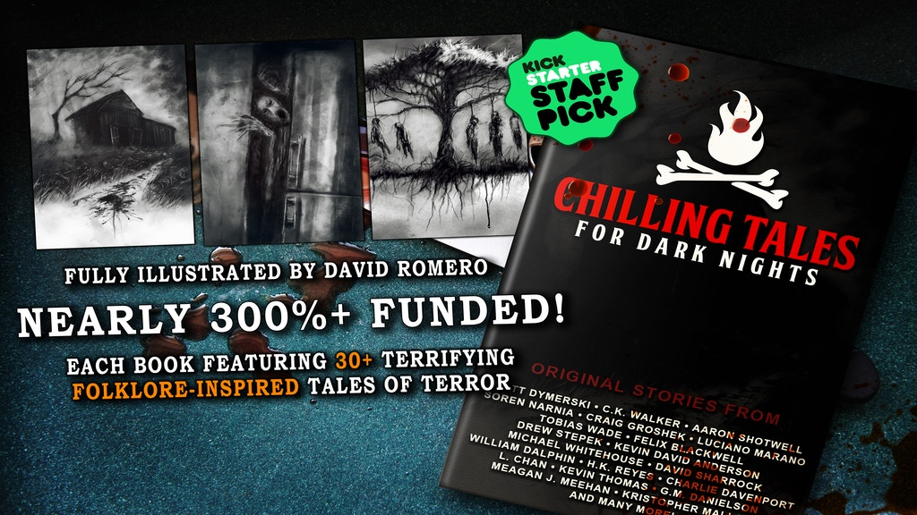 A series of fully-illustrated eBook, print and audio book anthologies of original, folklore-inspired short scary stories.