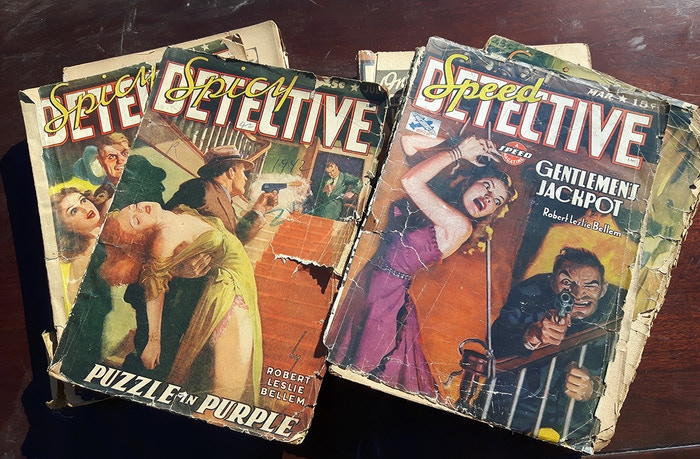 Research materials: the original issues of Spicy Detective Sally appeared in