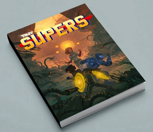 Tiny Supers Softcover (Mockup, final may vary)