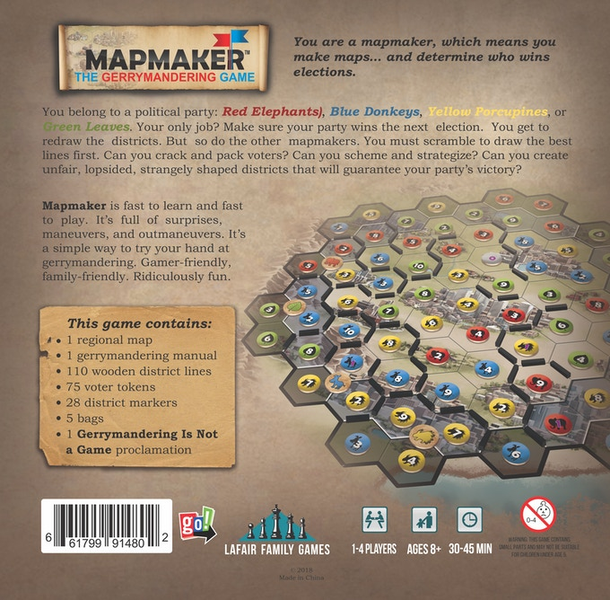 Mapmaker: The Gerrymandering Game by Lafair Family Games — Kickstarter
