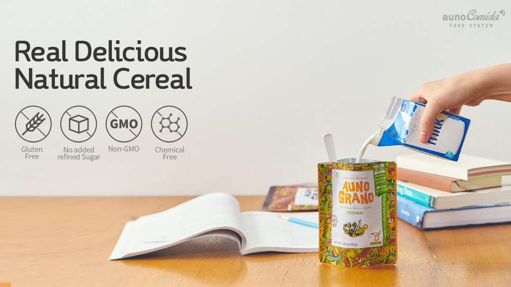 AUNO: 100% Raw Superfood Cereal On-The-Go
