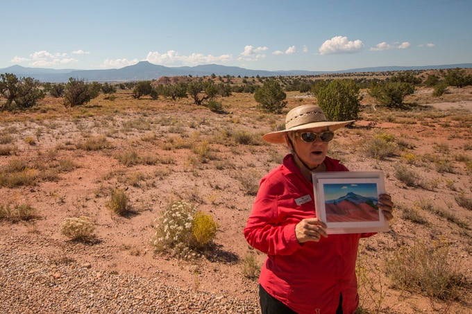 Ghost Ranch guide identifying a very specific location painted by Georgia O'Keeffe