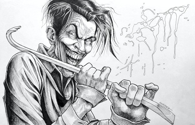 Paul Harding's Joker Original Art - Part 7 of the Jim Starlin Legacy Project