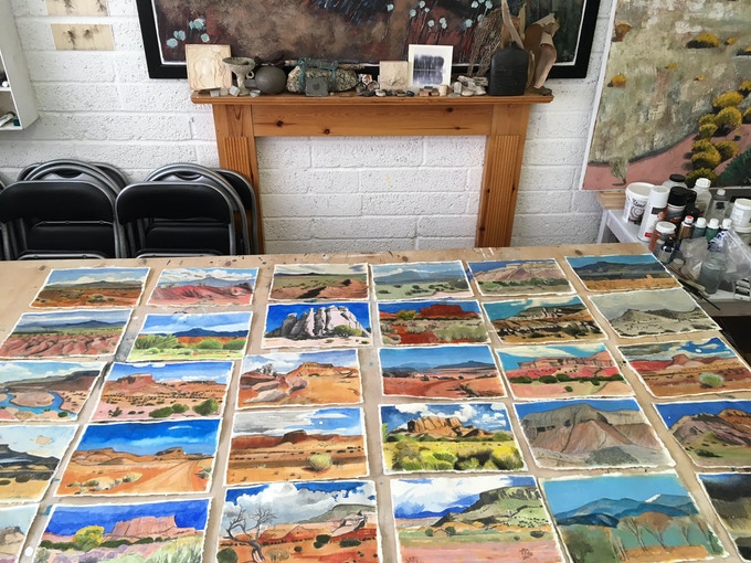 a New Mexico panorama - studies of the landscapes I have seen