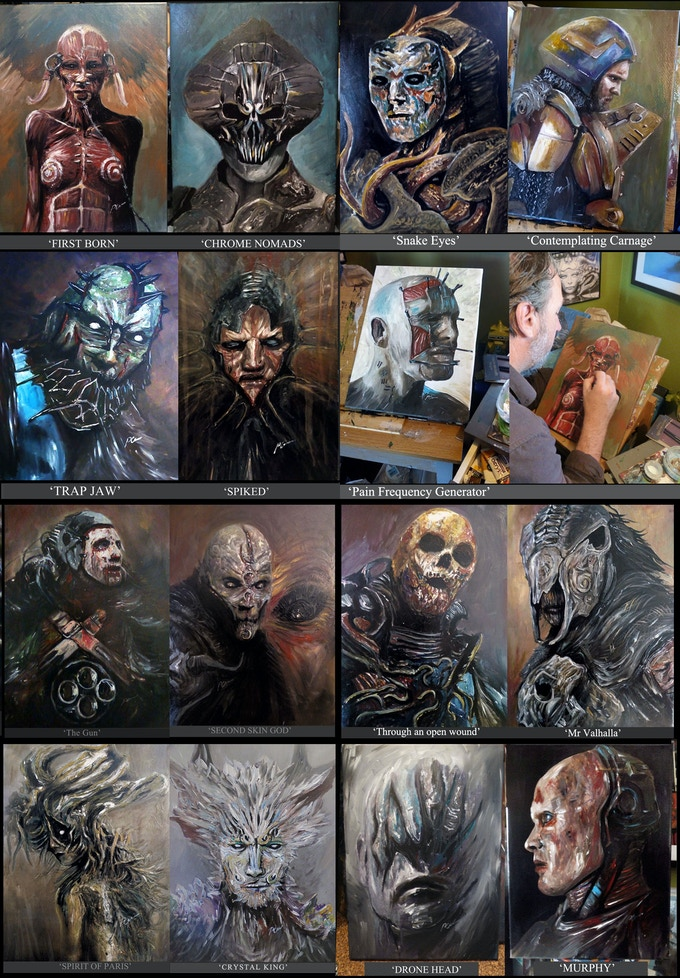 Paul Gerrard  Acrylic Canvas  Paintings (see rewards)