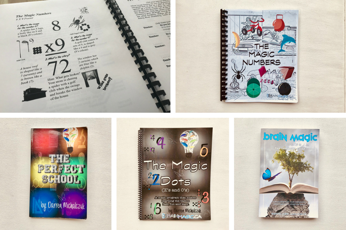 "These are books that Darren has published, including his latest release (2018) on the use of mnemonics in everyday life, ""Brain Magic"""