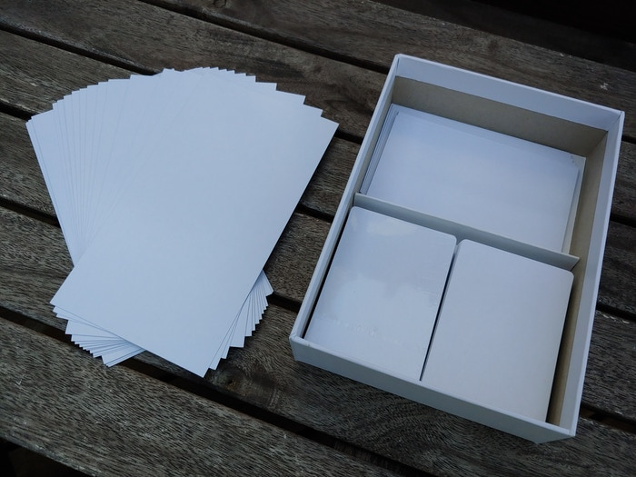 The cards of Unbroken - poker-sized, tarort-sized and large monster cards