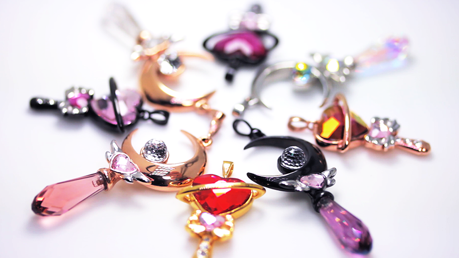 Magical girl inspired jewelry crafted from stainless steel and Swarovski® Elements.