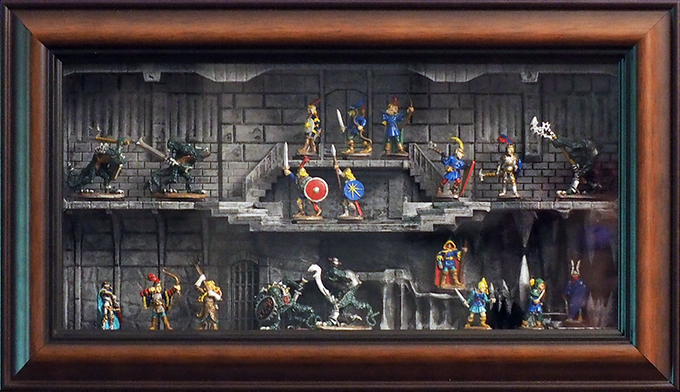 Double Dungeon With Vintage Ral Partha Minis