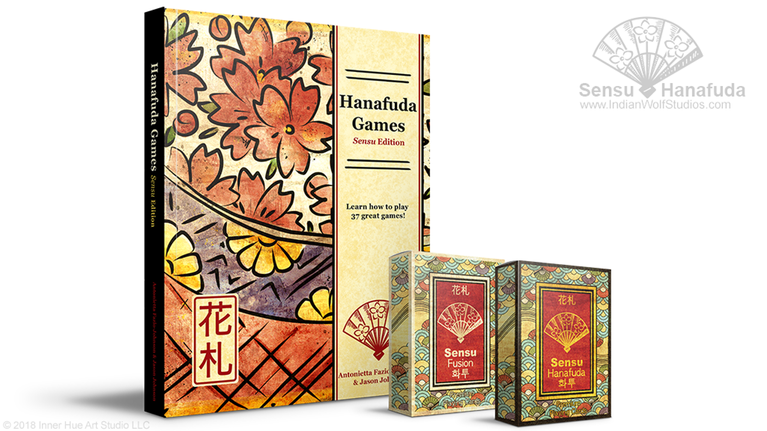 ✿Play hanafuda with our newest series of hanafuda and fusion playing card decks and in-depth, 236-page, 37-game rulebook!