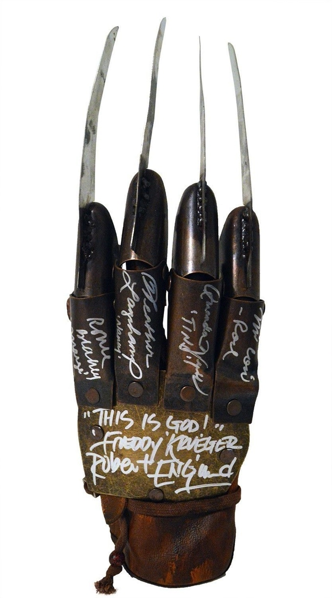 A Nightmare on Elm Street - Cast Signed Glove