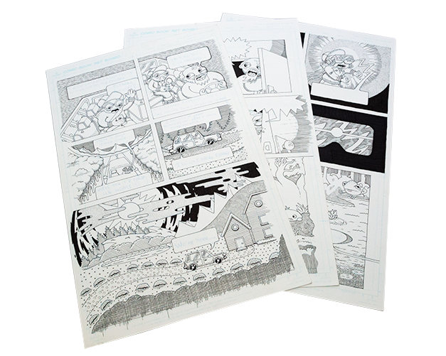 Original Pages by Stuart Marsh (pictured), Andrea Pearson, Justine Savage, Pascal Saint-Clair, and Emanuel Bramlett