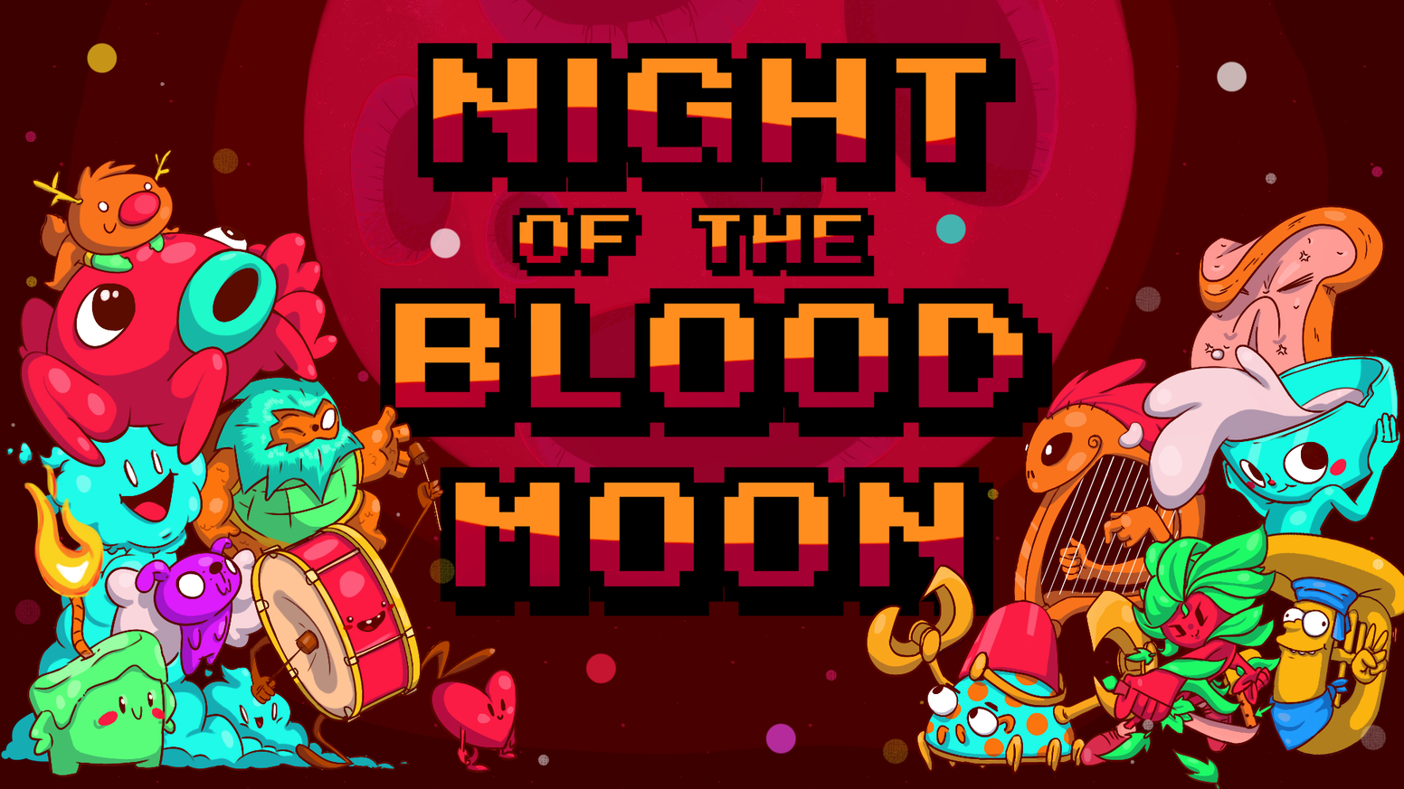 Use the power of the blood moon to destroy the cute creatures of our dreams. Become the nightmare, and utilize weapons of destruction!