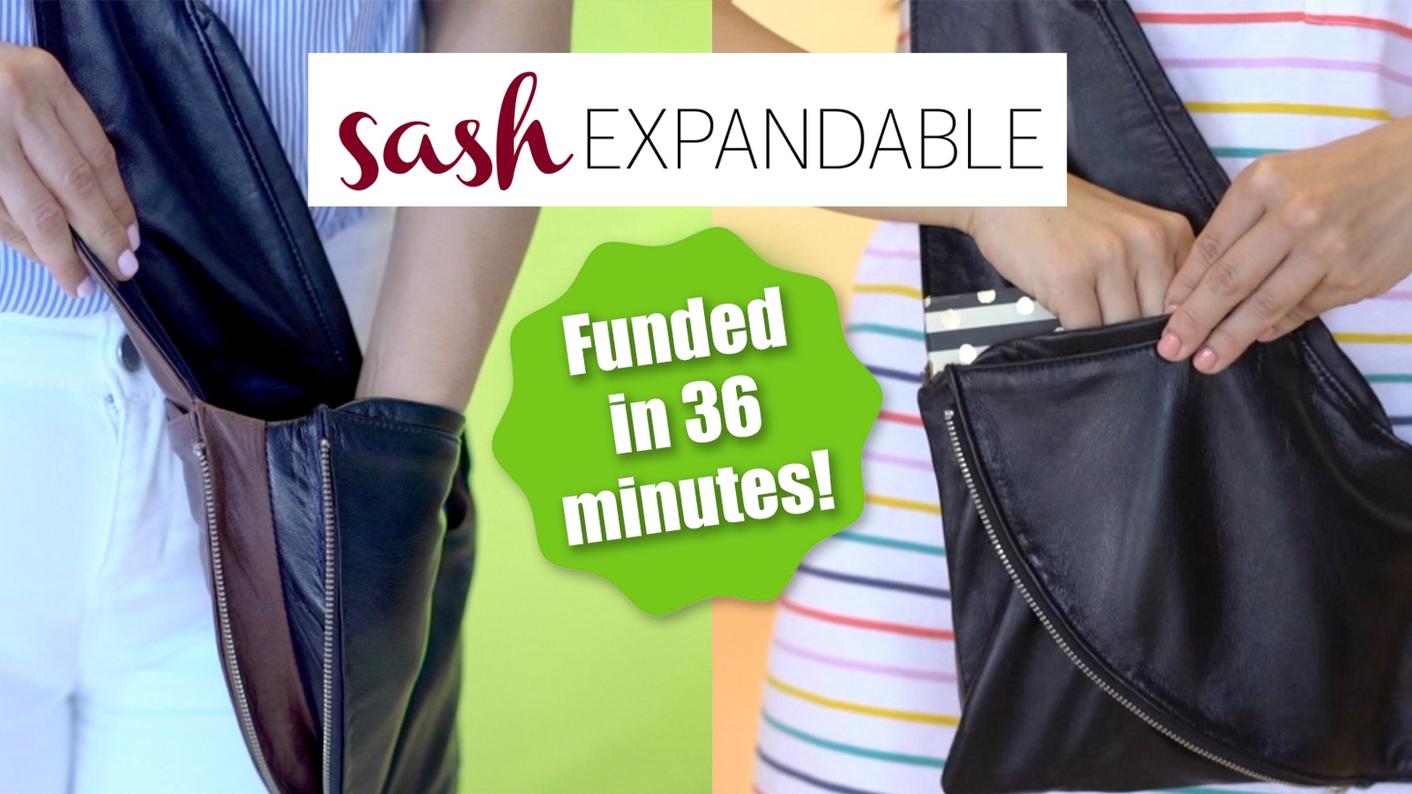 Two years ago Kickstarter brought our Sash bag to life. Now we have made it bigger with expandable pockets in multiple sizes.