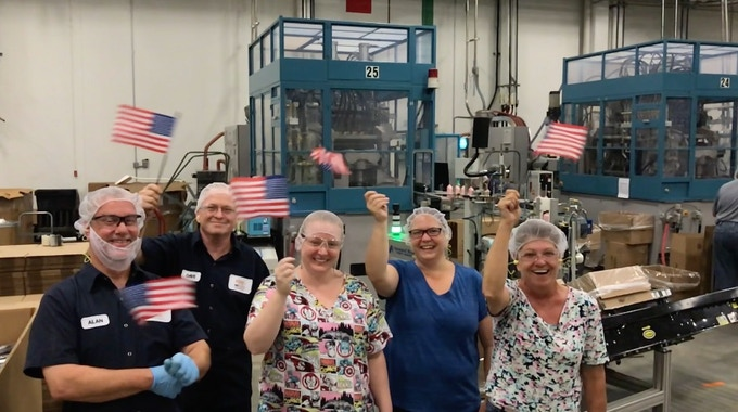 This is literally where MagnetJar will be made. Machine 25 at M&H Plastic, in Winchester, Virginia. With these friendly people.