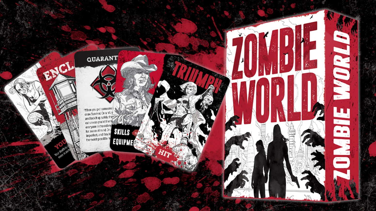 A Powered by the Apocalypse card-based tabletop roleplaying game about survivors fending off the dead while they struggle to rebuild their lives in a zombie-filled world.