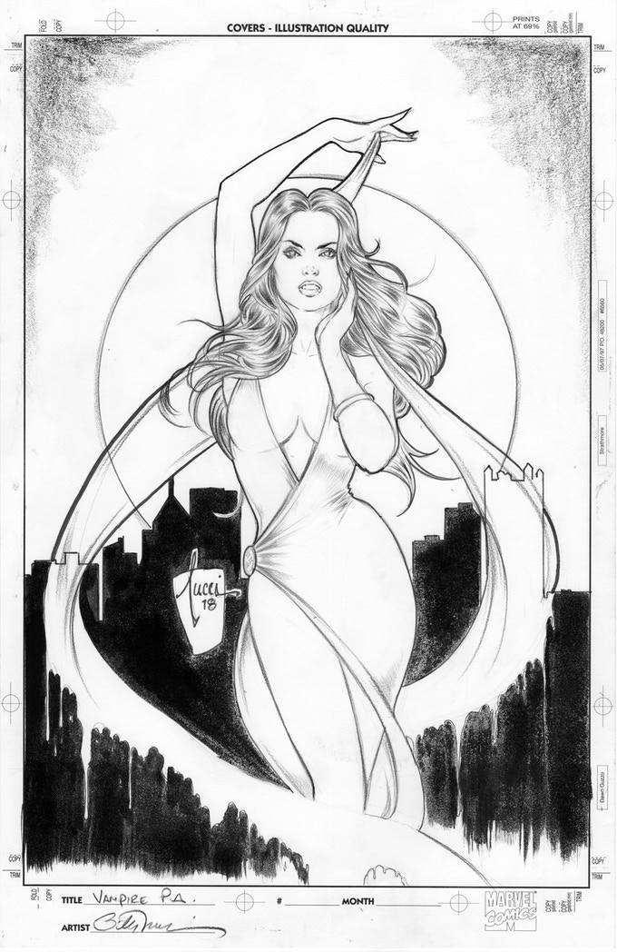 Billy Tucci's original art for his cover