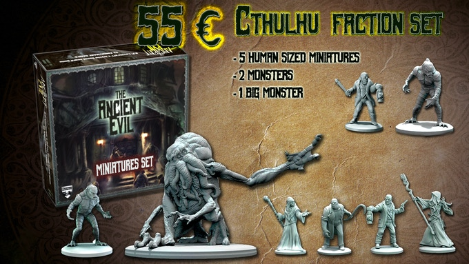 The Cthulhu faction box set complete with the unlocked goals!