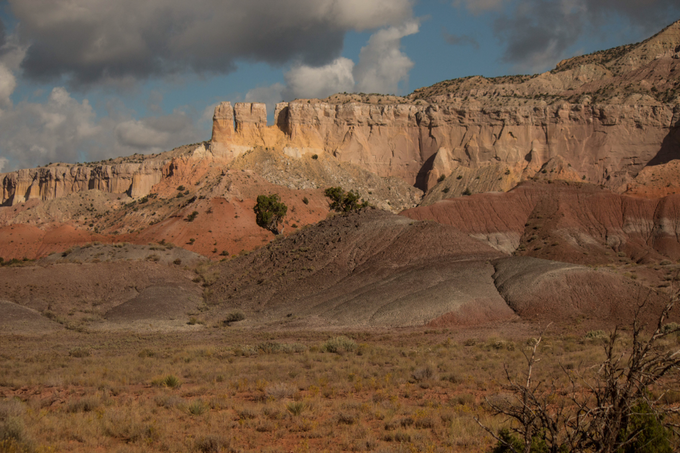 Red Hills, Ghost Ranch, New Mexico where O'Keeffe often parked her Ford car to paint out of the back window