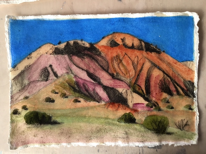 Print 1: Red Hills, Ghost Ranch, Northern New Mexico