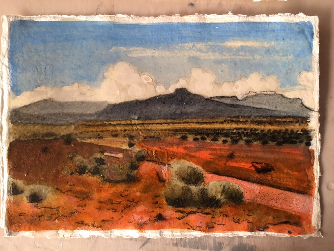 Print 4: Desert Landscape, New Mexico
