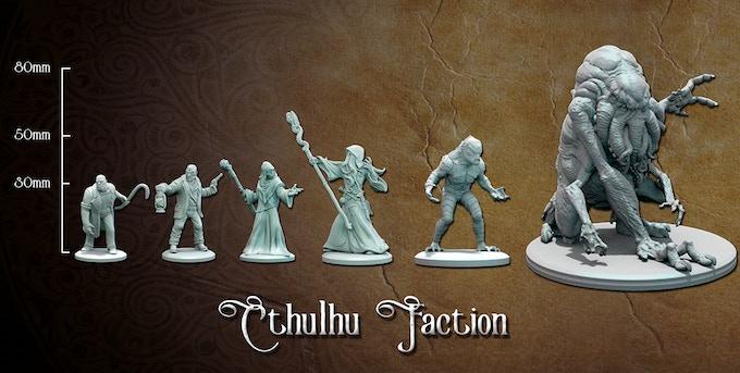 Cthulhu faction sizes