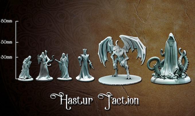 Hastur Faction miniature sizes