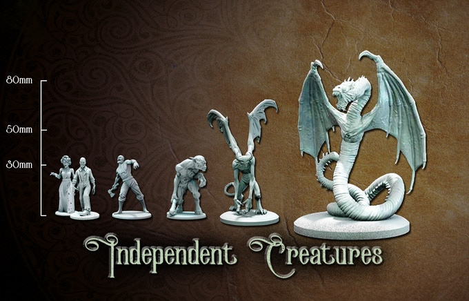 Independant monsters miniature sizes