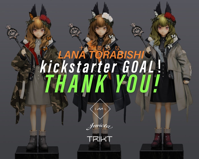"Black Rock Shooter Creator ""huke"" Produced ""LM7  十羅菱らな"" Lana Torabishi Figure Project"