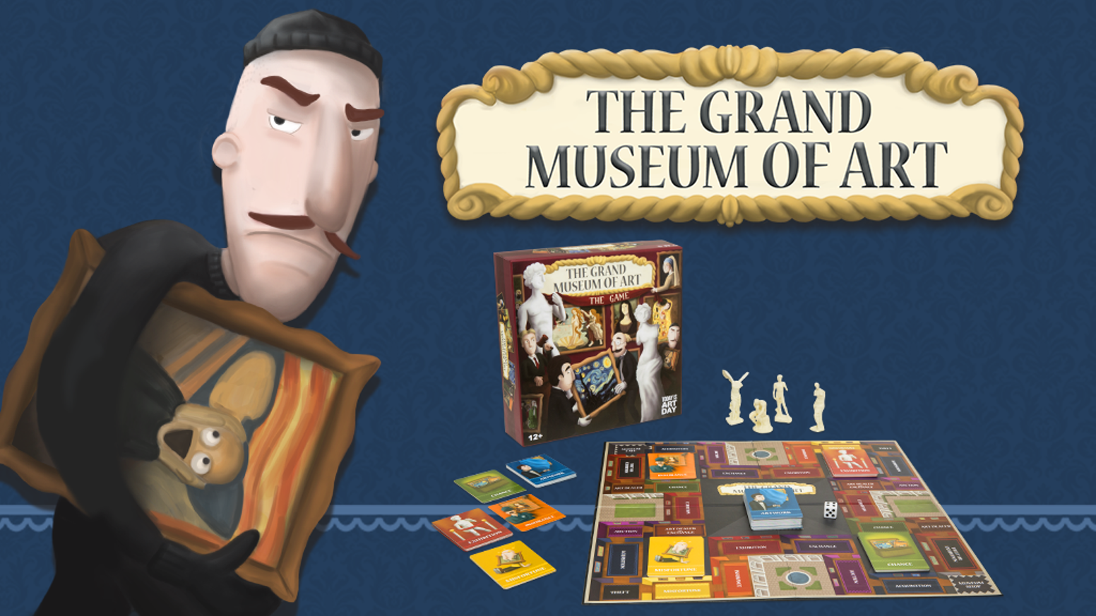 A board game for art lovers? Yes! Collect famous artwork, put together thematic exhibitions and become the new Museum Director!