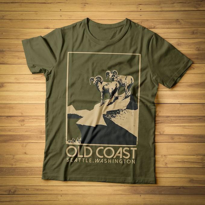 Old Coast 'Vintage Rams' T-Shirt