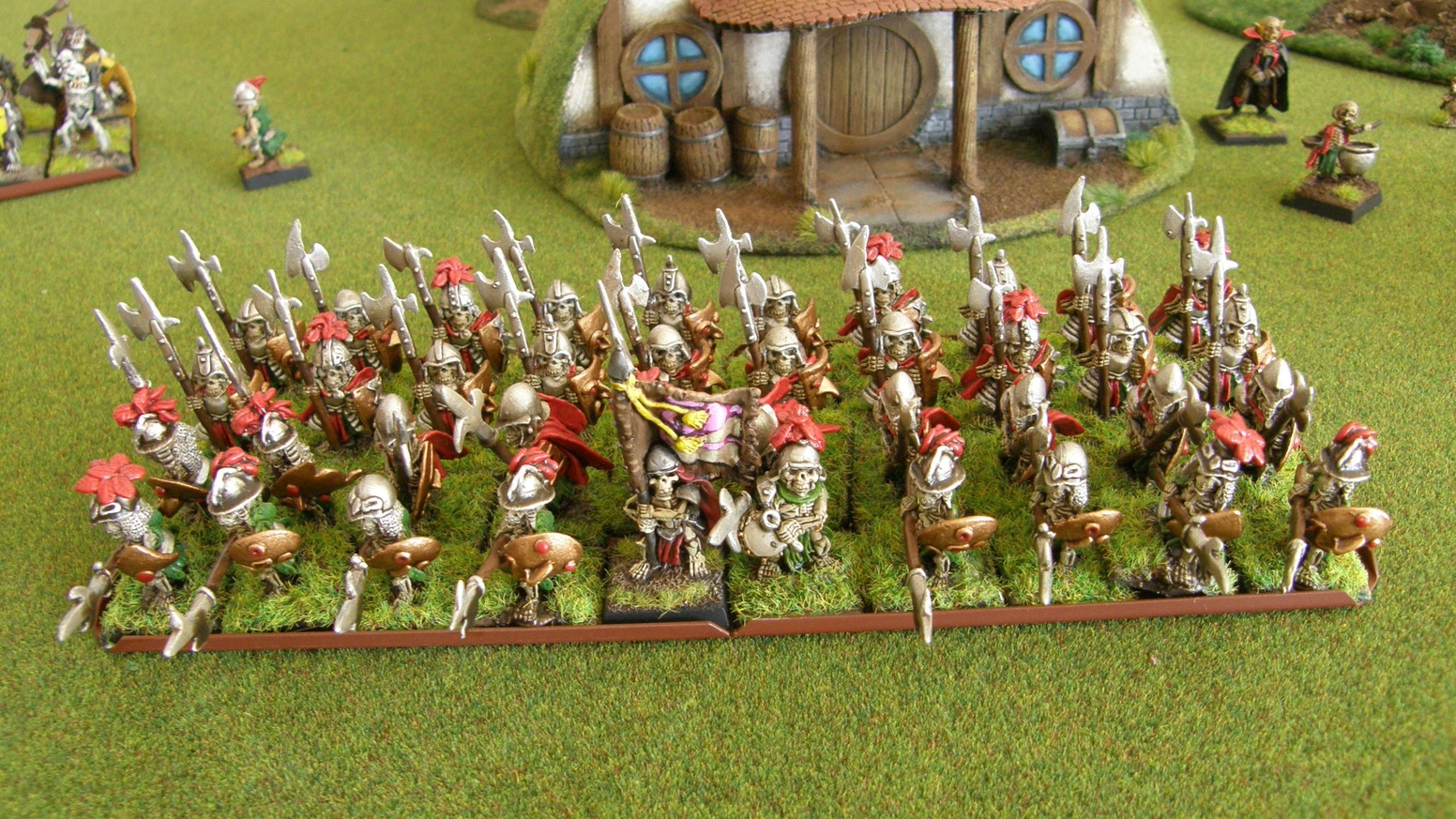Halfling Skeleton Army Halberds and War Machine Crew by John