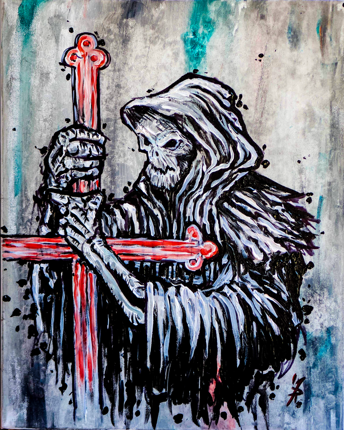 Night Death & The Red Cross - Original Art by Mark Russo