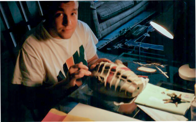 Eric working on a Monster Sculpt for an Indie Film #90s