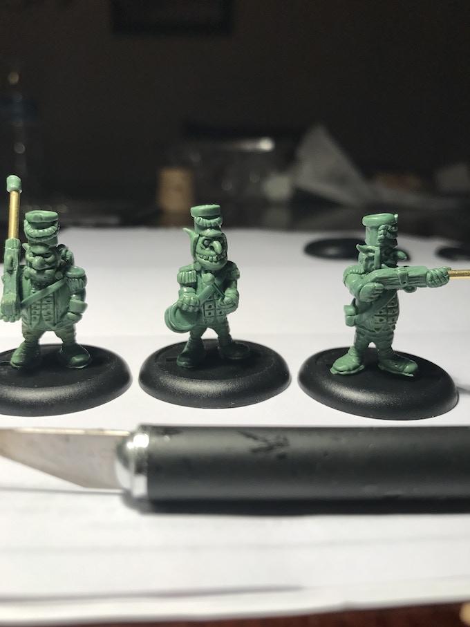 Gobbo trooper poses