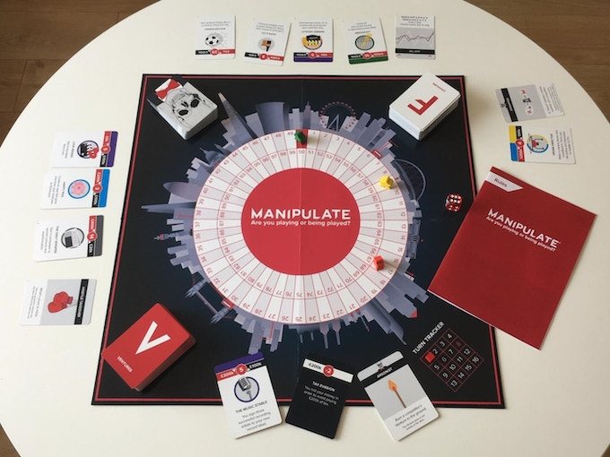 Prototype components - Here is a board we mocked up and some cards we had printed in a factory in Italy