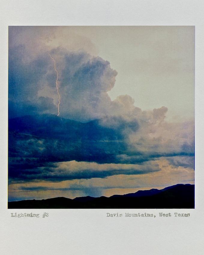 """""""Lightning #2"""", Davis Mountains, West Texas, ©2013 Deanna Miesch"""