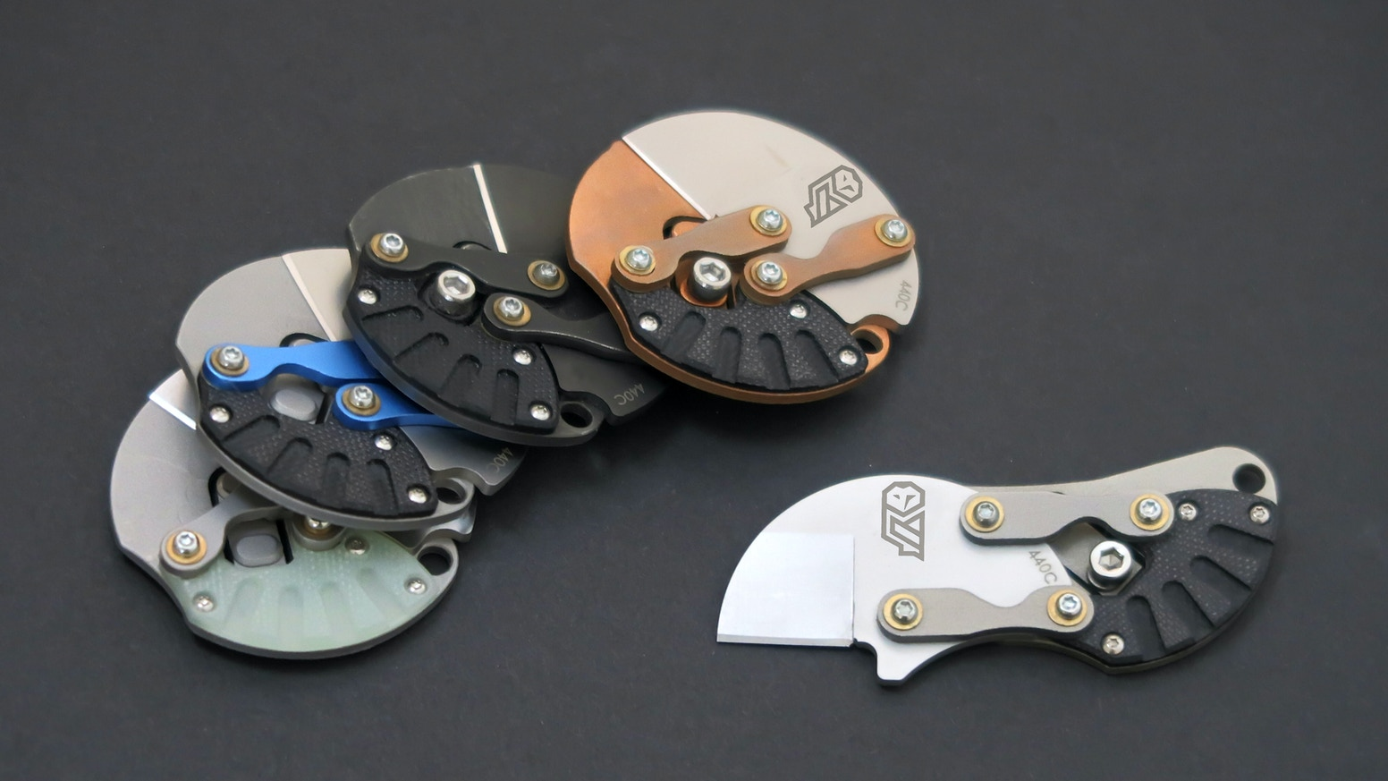 True Morphing Linkage | 440C Hardened Blade | Ti | G10 Handle | Key Loop | Designed in California | Assembled in USA | Colors | EDC
