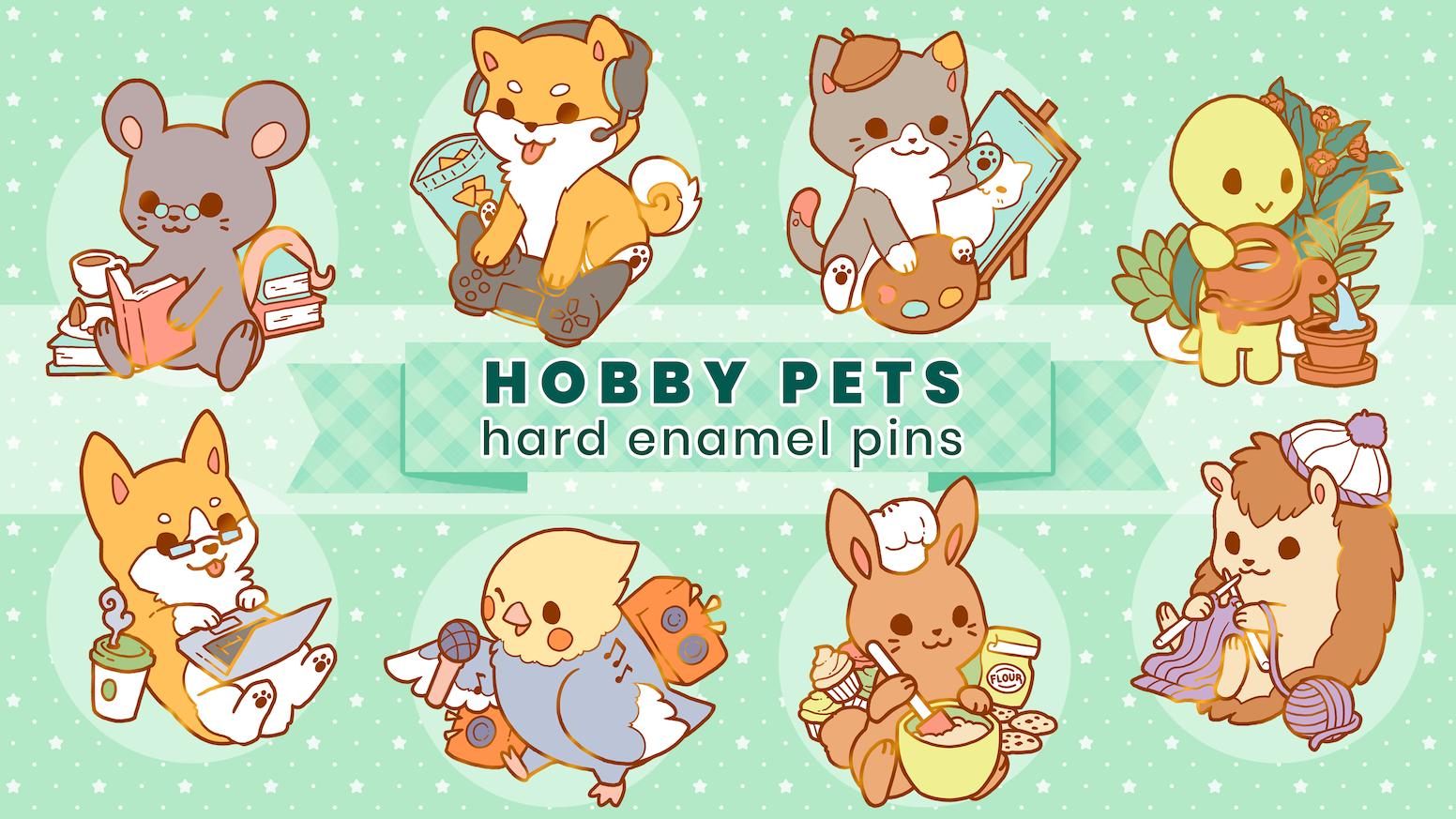 HOBBY PETS ☆ Hard Enamel Pins by lemoncreamsicle — Kickstarter