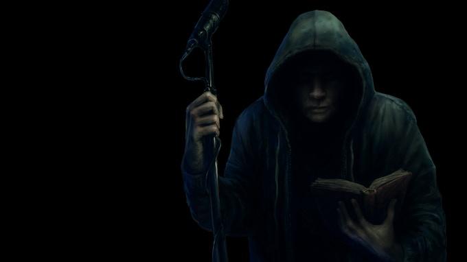 """The Dark Storyteller"" (art by David Romero)"