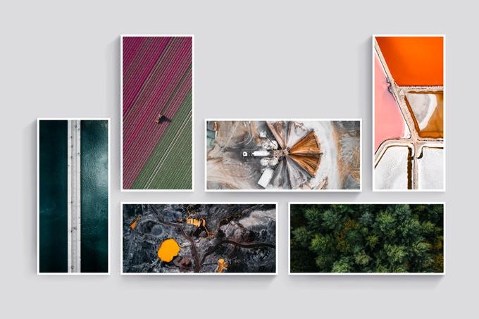Set of Six Postcards 10x21 cm, 20 Euro